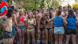 University of Oregon students strip down for charity Undie Run