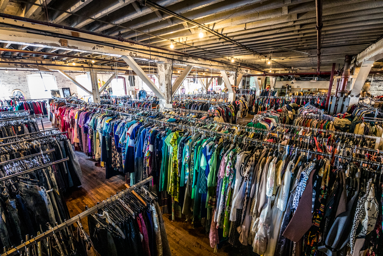 Stu works with a client's budget to get them the best deal on an article of clothing. He also pays cash for pieces from sellers. / Image: Catherine Viox // Published: 1.29.20