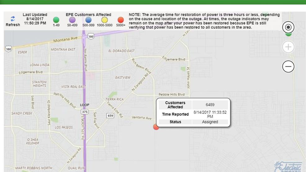Second power outage affects over 6000 in east far east El Paso KFOX