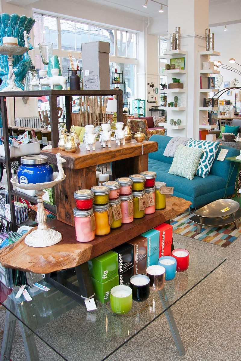 Retrofit Home is located in the Capitol Hill neighborhood at 1103 E. Pike Street. It's full of bright, bold objects for the home. (Image: Melanie Biehle / Seattle Refined)