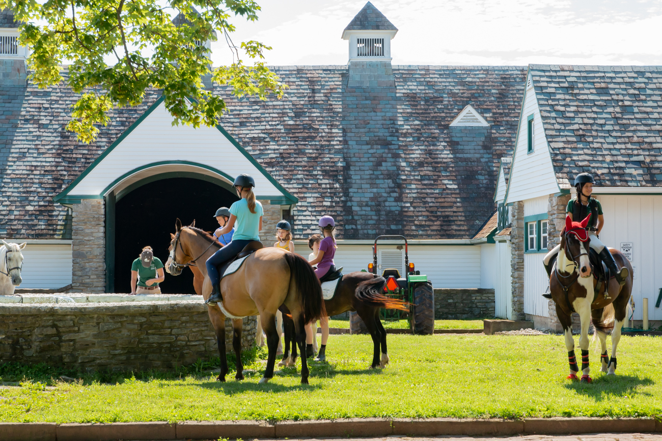 Located in the heart of Indian Hill, the expansive Greenacres Equine Center offers training for children ages 8 to 17{ } where they can learn to ride, handle, and bond with horses without the financial burden of having to own a horse. The instructors at the park mentor students on how to become confident riders not only through horseback riding lessons but through classroom courses that teach them about equine science and the relationships & husbandry methods behind horses. ADDRESS: 8255 Spooky Hollow Road (45242) / Image: Elizabeth A. Lowry // Published: 8.3.19