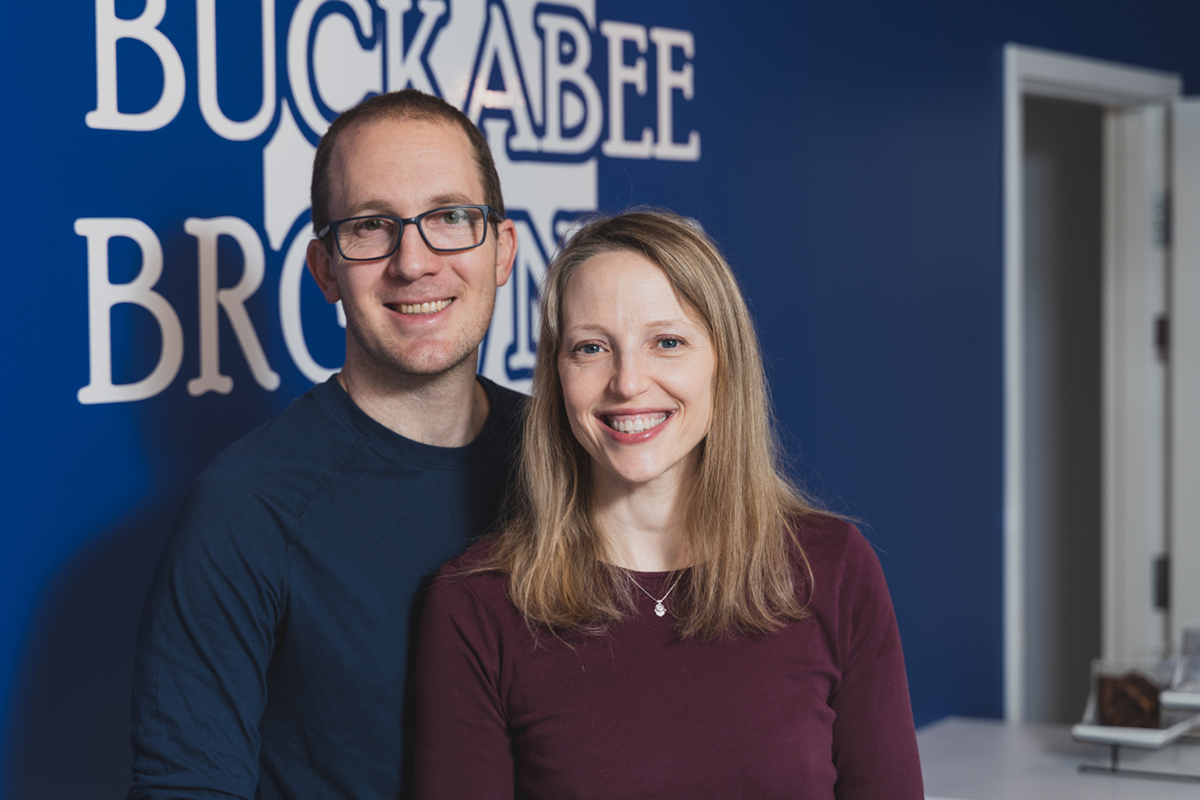 Tom Kahan and Miriam Spitz, co-owners and married couple / Image courtesy of Buckabee Brownies // Published: 6.6.19