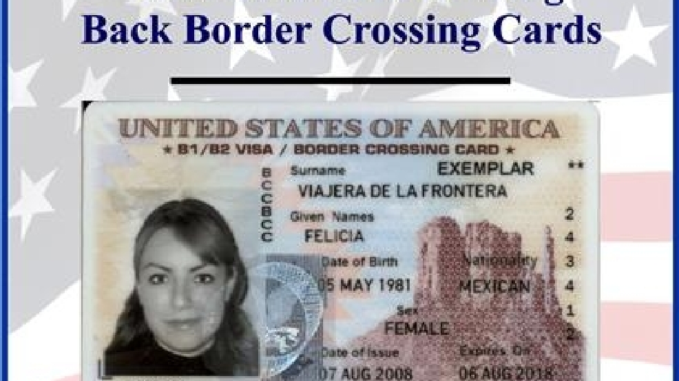 stolen border crossing cards recovered in mexico kgbt. Black Bedroom Furniture Sets. Home Design Ideas