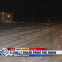 Watch for slick spots, cold temperatures this morning