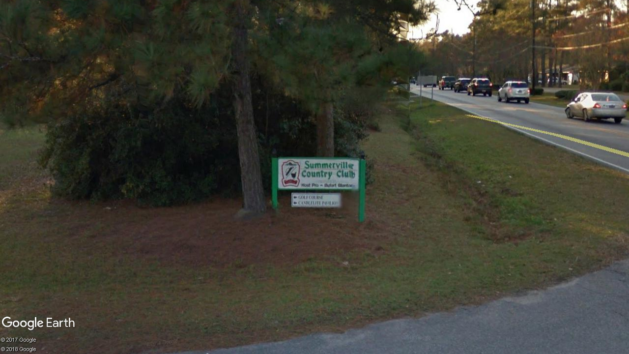 Summerville Country Club, Country Club Boulevard, Summerville, S.C. (Google Earth)<p></p>