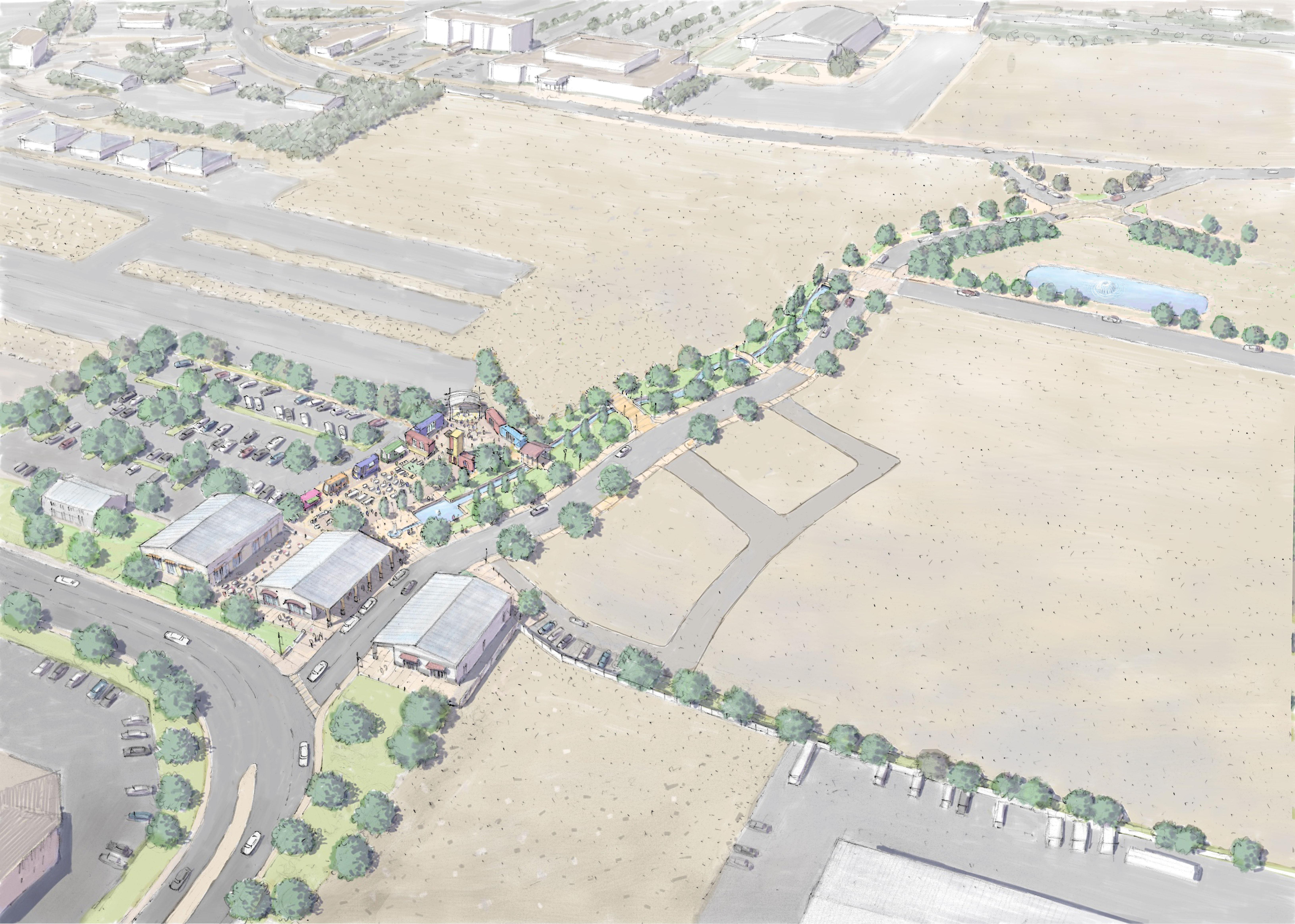 Phase 1 of the Port of Kennewick's plan to develop Vista Fields.{ }