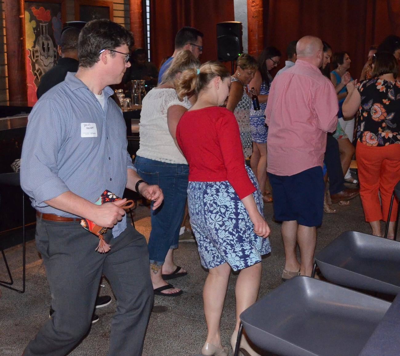 Guests doing the electric slide / Image: Leah Zipperstein, Cincinnati Refined // Published: 8.13.17