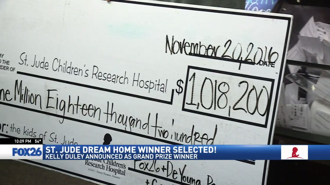 The 2016 St. Jude Dream Home Giveaway raised over a million dollars for St. Jude Children's Research Hospital