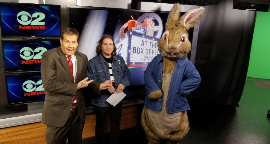 Peter Rabbit stopped by KUTV to visit with Ron Bird and Ryan Painter (Photo: Mary Nickles for KUTV){&amp;nbsp;}<p></p>
