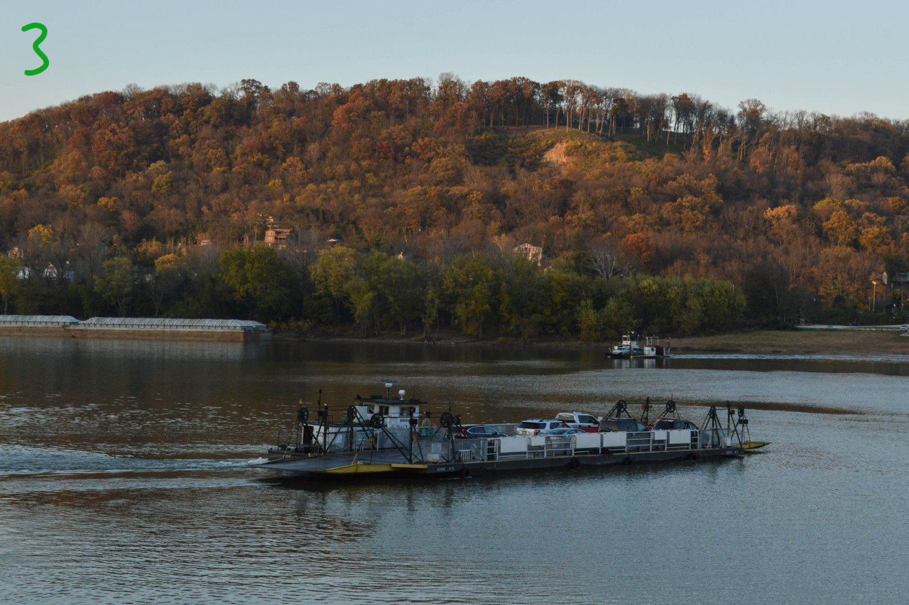 #3 - We just found out that there's a ferry (called the Anderson Ferry) to that'll transport your vehicle from Cincinnati into Kentucky. And from there it's only a three-mile drive to the airport. Suhweet! / Image: Liliana Dillingham