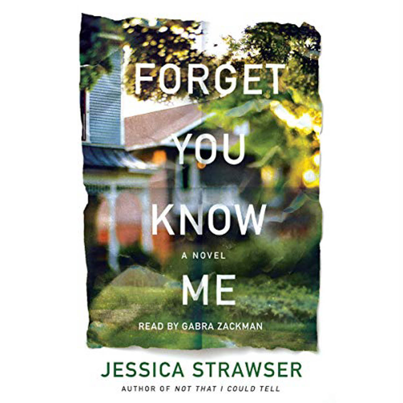 "A video call between long distance friends, Liza and Molly, accidentally reveals shocking secrets that set the stage for Jessica Strawser's thriller, ""Forget You Know Me."" / Image courtesy of Audible // Published: 3.23.20"
