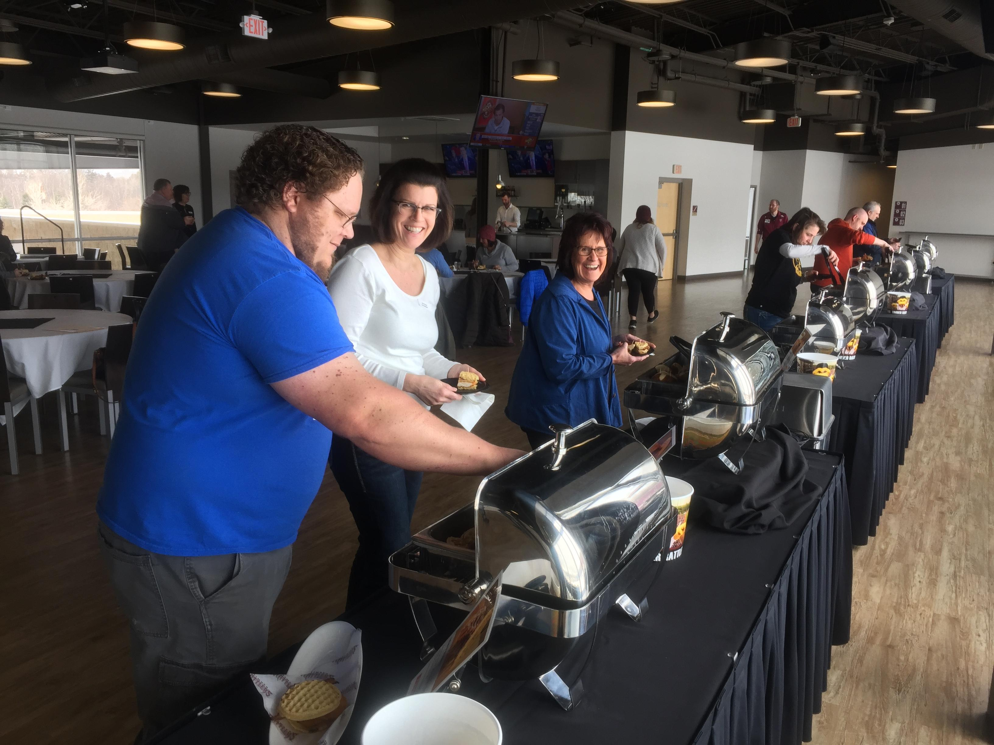Timber Rattlers host &quot;Food Fight Tasting&quot; at Fox Cities Stadium in Grand Chute, March 7, 2018. (WLUK)<p></p>