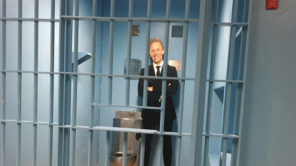 WilCo Sheriff locks up cardboard 'Seth Meyers' in response