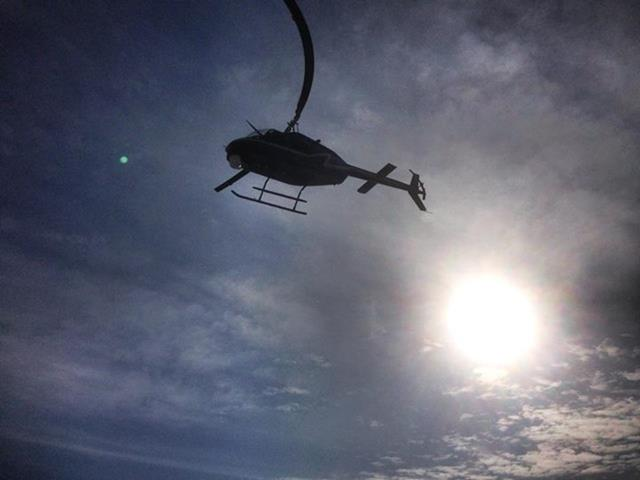 OBN Aviation Unit providing air support for field operations in Garvin County