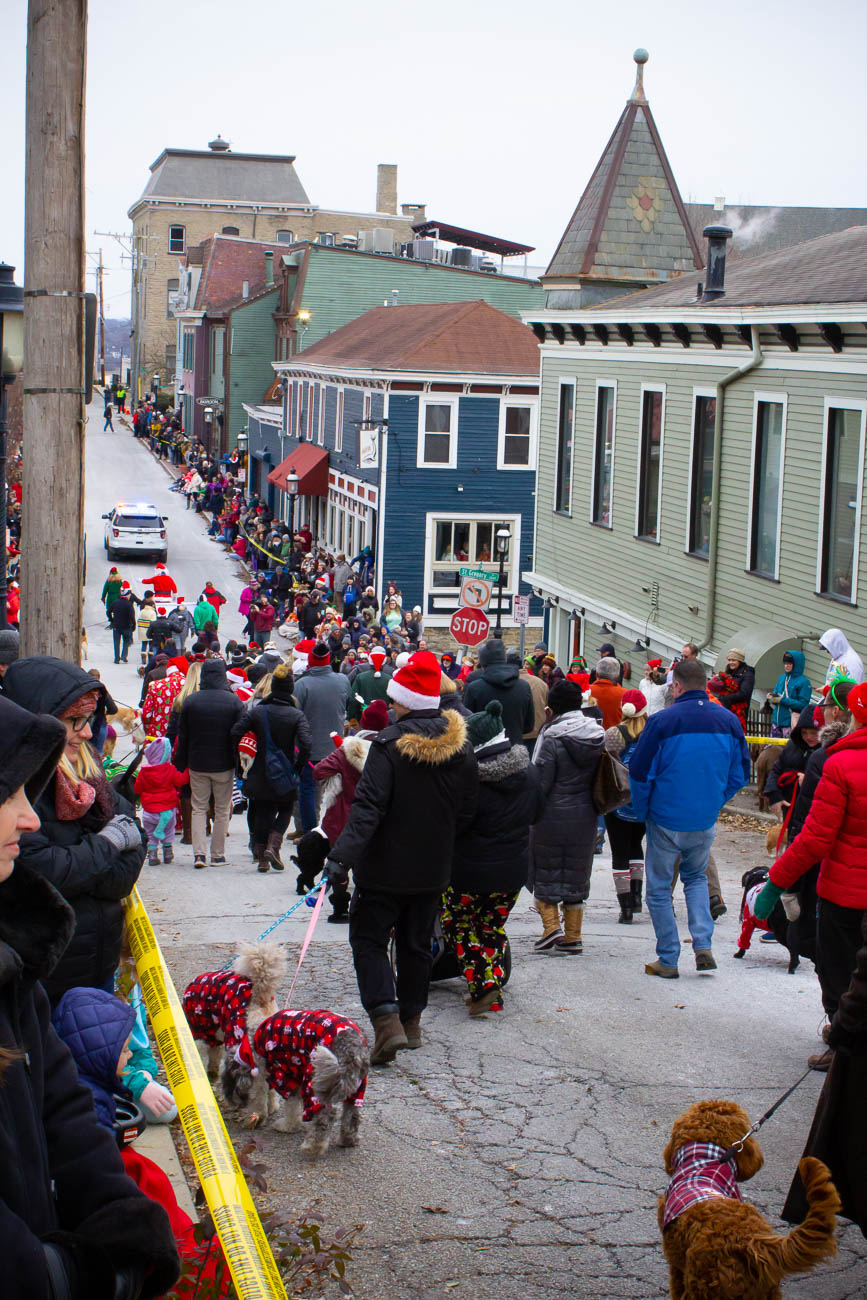 The annual Reindog Parade took place in Mount Adams on Saturday, December 8th. The parade began with plenty of festive pups at The Monastery. The best-dressed pooches and best dog/owner look-a-likes brought home big prizes, but all of the pups had a fun time just strutting down the streets in their holly jolly costumes. / Image: Katie Robinson, Cincinnati Refined // Published: 12.9.18