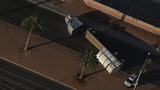 Semi-truck overturns, blocks traffic at Las Vegas Boulevard and Russell Road