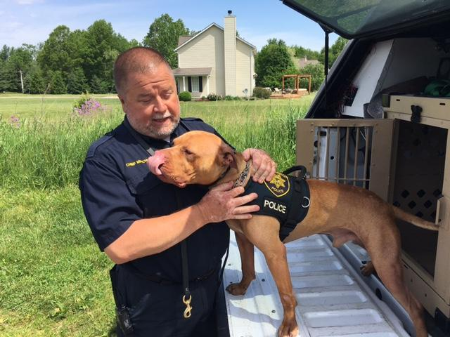 Leonard is partnered with Clay Township Chief of Police Terry Mitchell (WSYX/WTTE)