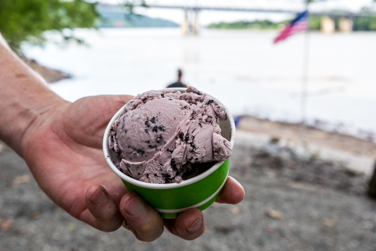 Black raspberry chip ice cream / Image: Catherine Viox{ }// Published: 7.24.19