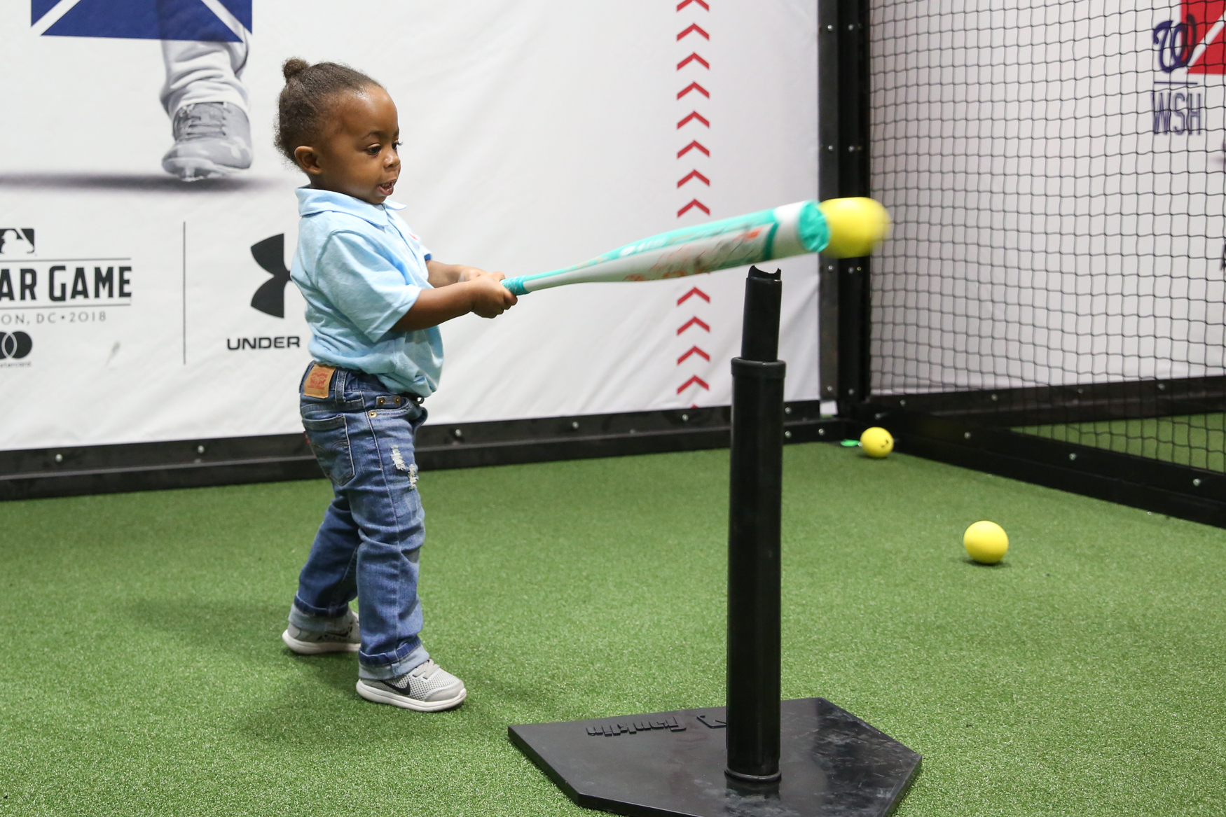 Zander Stuubs, 2, is already working on his batting skills.{ } (Amanda Andrade-Rhoades/DC Refined)