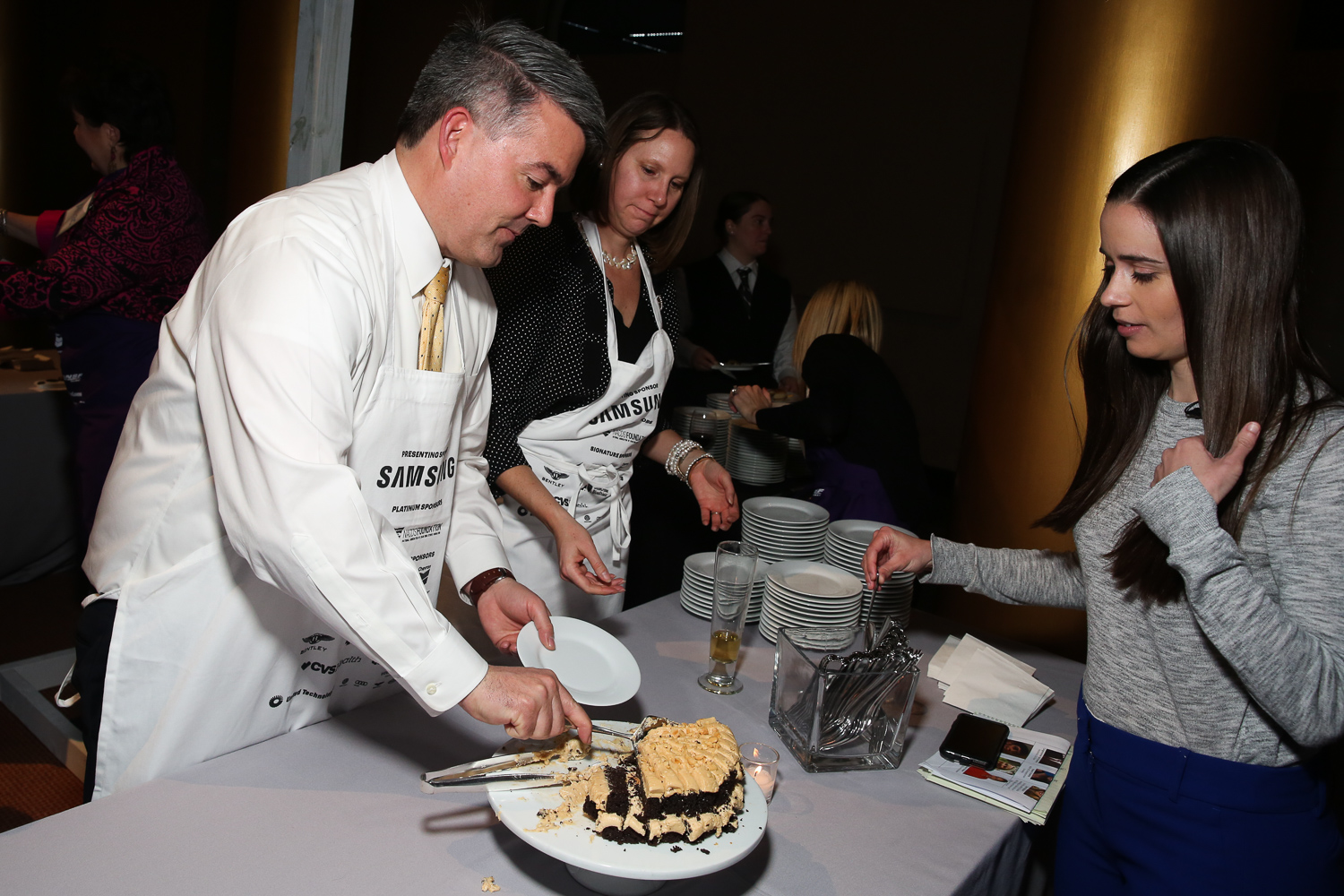 Sen. Cory Gardner and the cake which his wife makes on their anniversary. (Amanda Andrade-Rhoades/DC Refined)