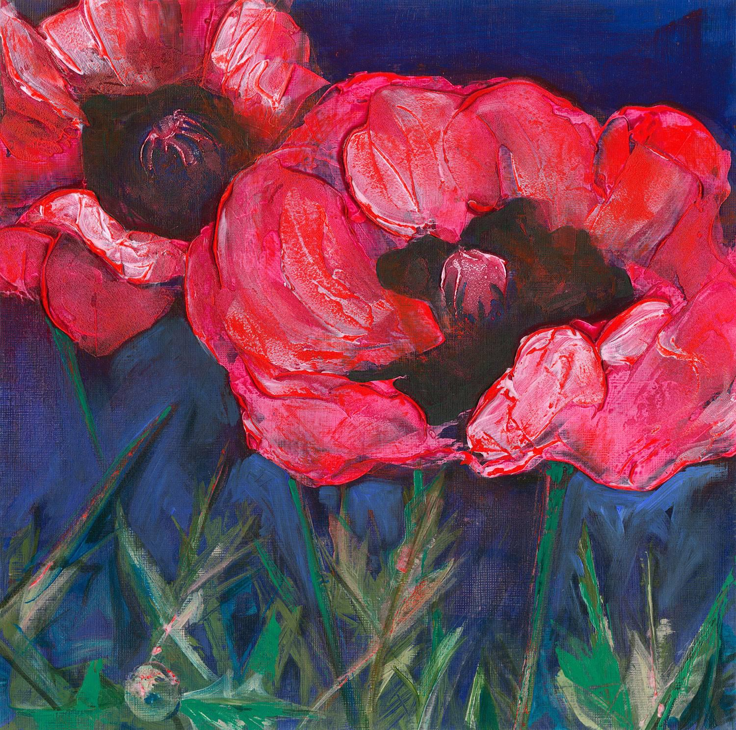 Red Poppies By Denise Souza Finney, The Featured Artist At