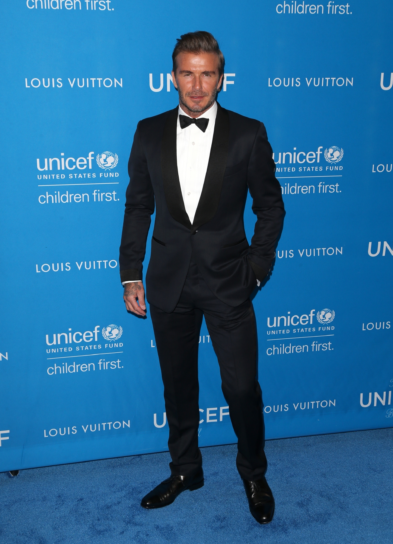 6th Annual UNICEF Ball at the Beverly Wilshire Hotel, Beverly Hills - Arrivals  Featuring: David Beckham Where: Beverly Hills, California, United States When: 12 Jan 2016 Credit: FayesVision/WENN.com