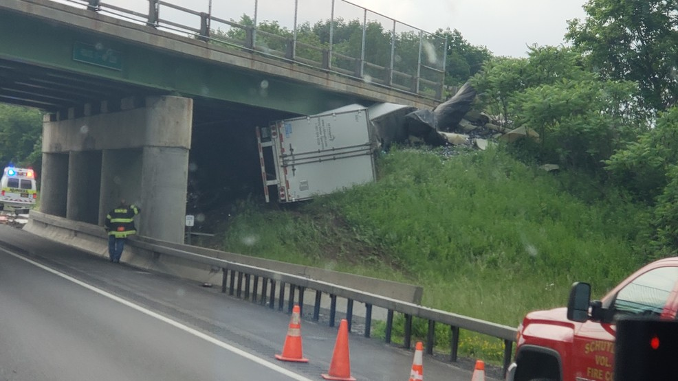 One dead, one hurt after tractor trailer crashes into bridge in Herkimer