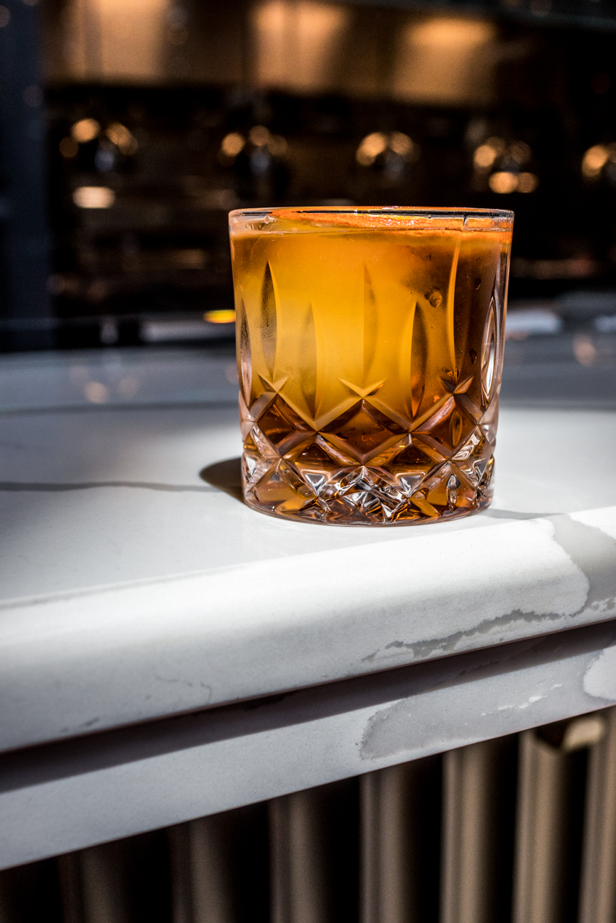 Mabel's Manhattan: Woodford rye, Carpano Antica, Peychaud's Bitters, Bénédictine, and a filthy cherry / Image: Catherine Viox{&nbsp;}// Published: 6.22.20<br>