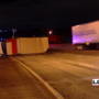 Semi overturns on I-75 after collision