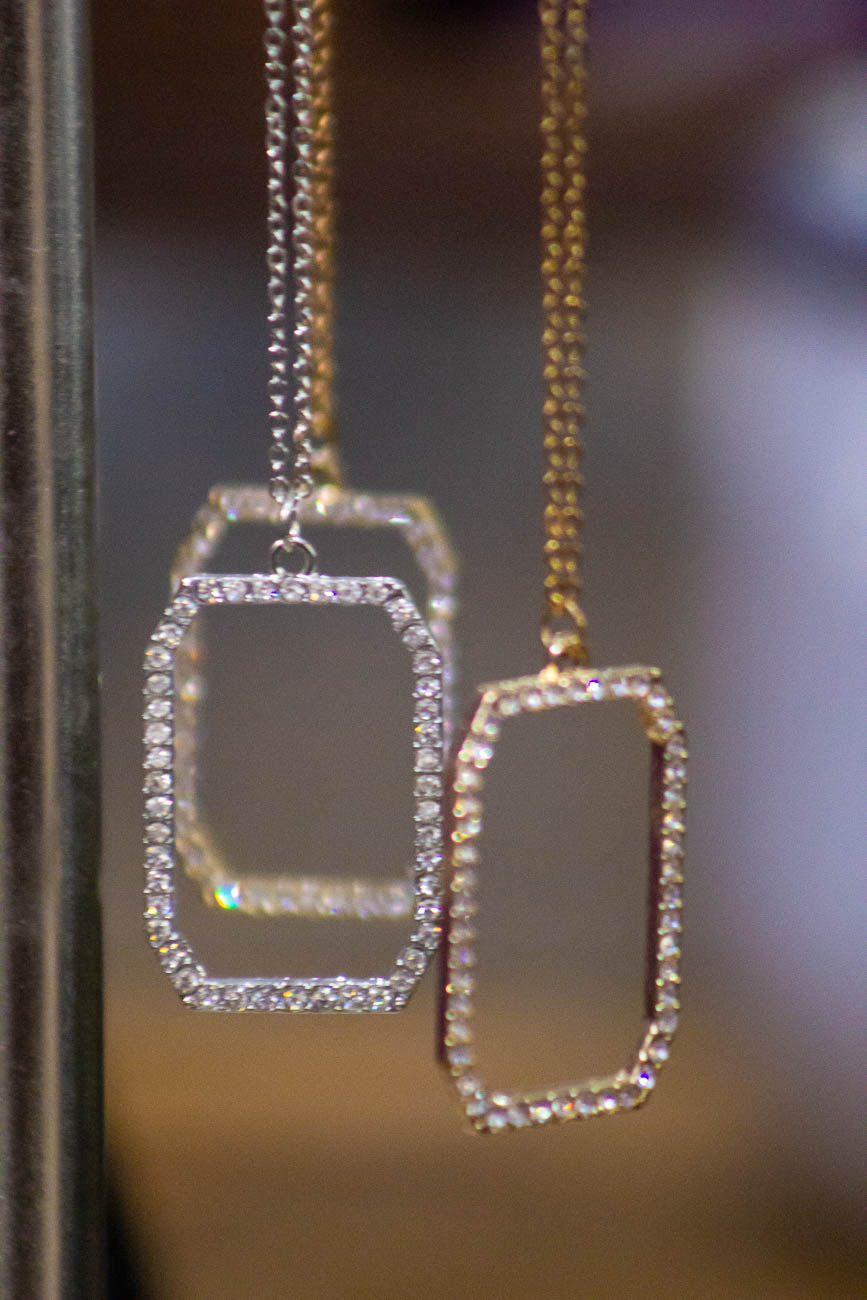 Dazzling necklaces dangle all over Trend Boutique. / Image: Katie Robinson, Cincinnati Refined // Published: 1.10.19