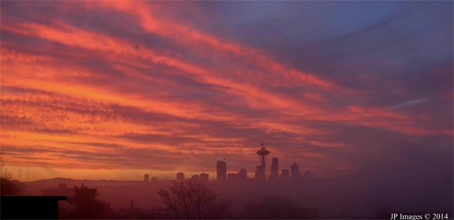 Seattle sunrise (Photo: Jeff Pond)