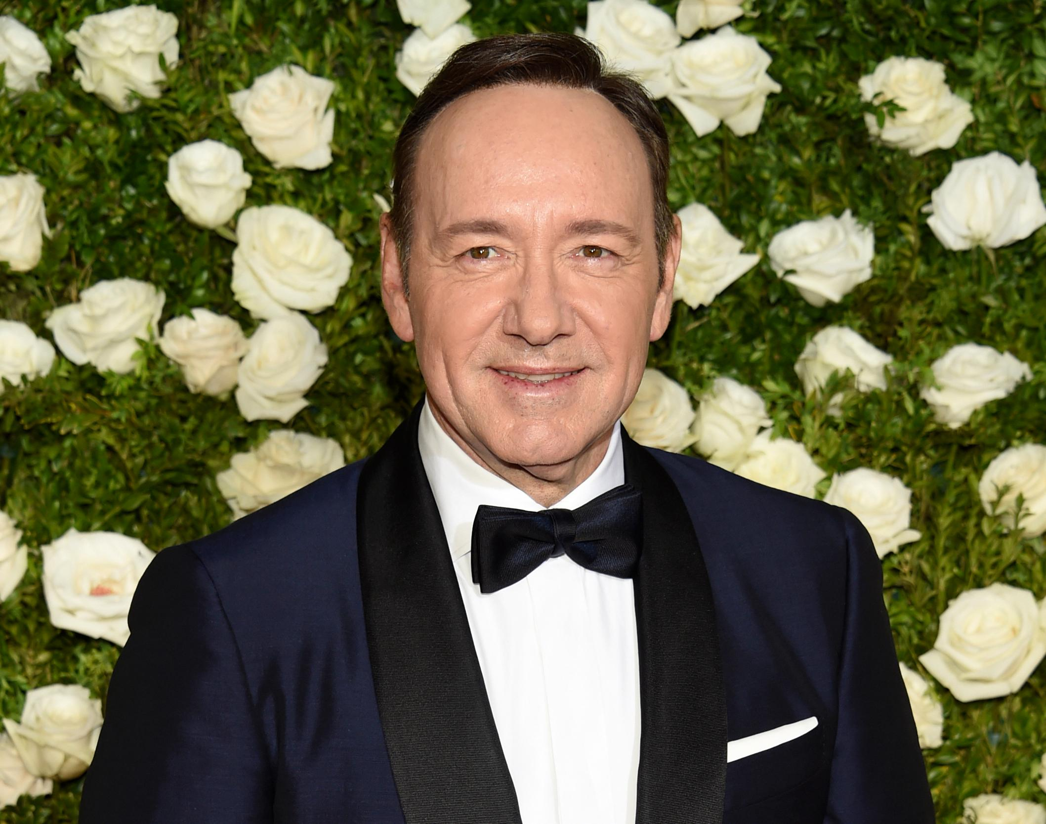 FILE - In this June 11, 2017, file photo, Kevin Spacey arrives at the 71st annual Tony Awards at Radio City Music Hall in New York. (Photo by Evan Agostini/Invision/AP, File)