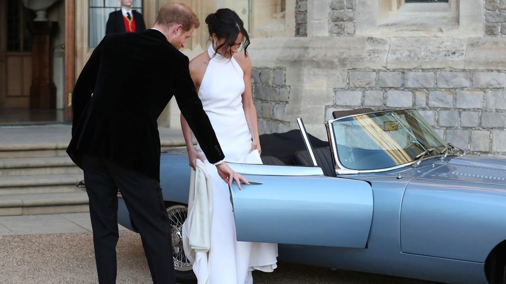 What A Ride Newlyweds Drives Off In Classic Jaguar After The Royal