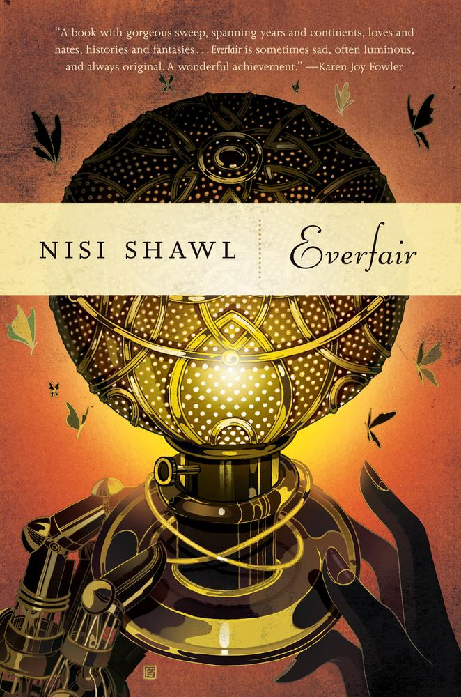 "#2. Everfair by Nisi Shawl. ""Everfair is a wonderful Neo-Victorian alternate history novel that explores the question of what might have come of Belgium's disastrous colonization of the Congo if the native populations had learned about steam technology a bit earlier."" www.bookstore.washington.edu (Image: TOR Books)"