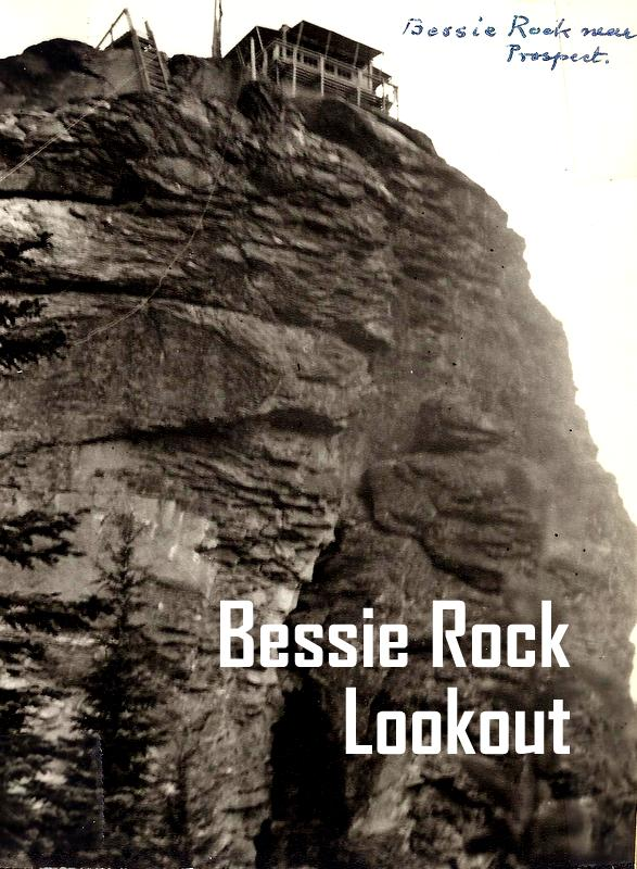 Bessie Rock Lookout. Image from Oregon Department of Forestry display at 2014 Oregon State Fair. Images collected by department's Forest History Center in Salem, Ore.