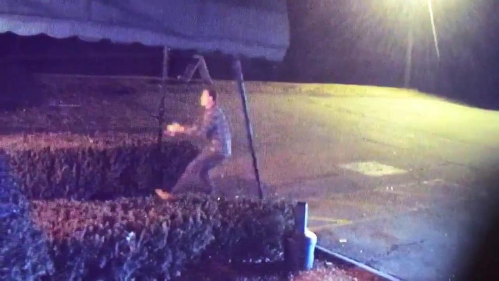 Man Caught On Camera Vandalizing Awning
