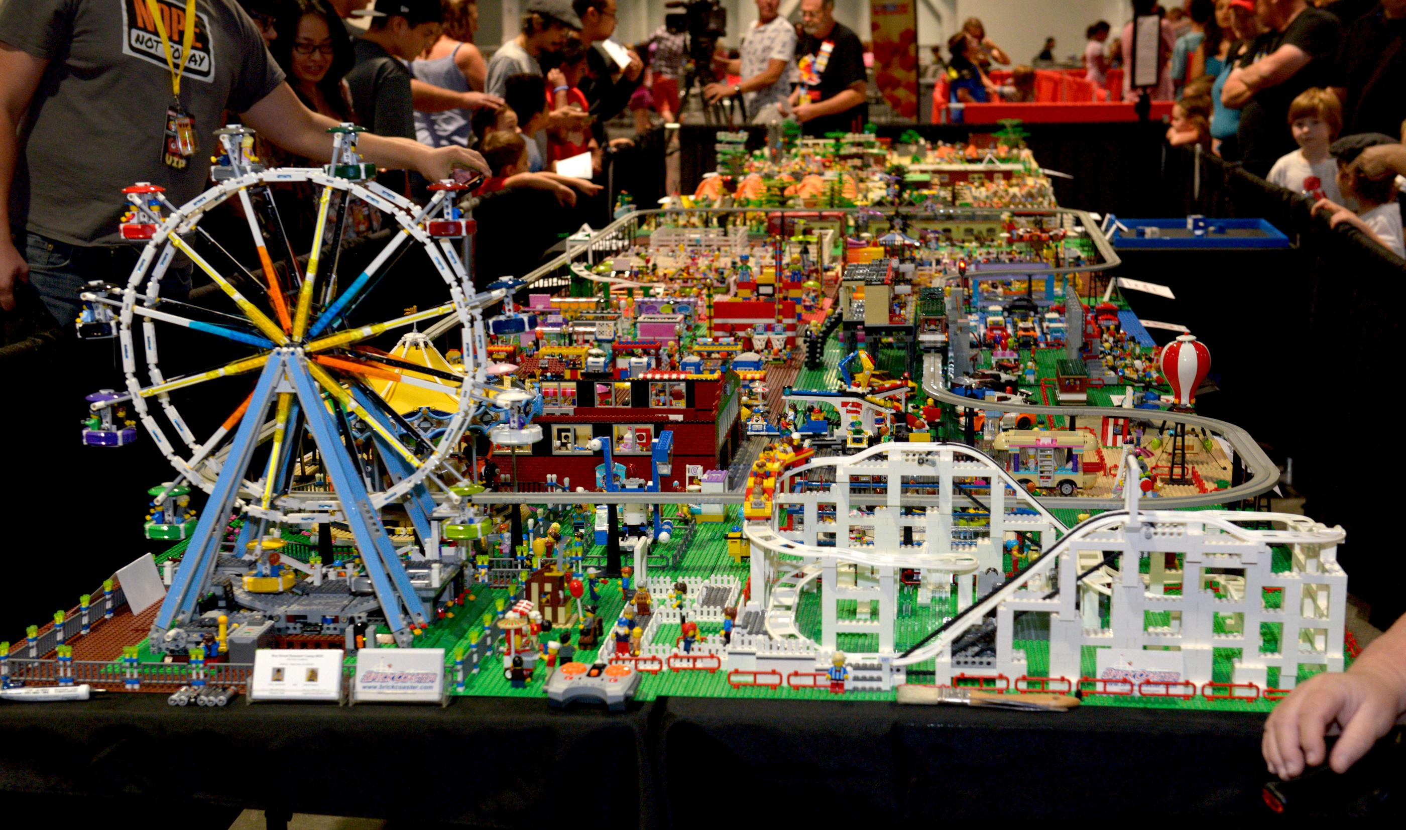 Light-up, moving ferris wheels, roller coasters and street cars are only part of the Lego attractions at the Brick Fest Live Lego Fan Experience at the Las Vegas Convention Center, September 9, 2017. [Glenn Pinkerton/Las Vegas News Bureau]