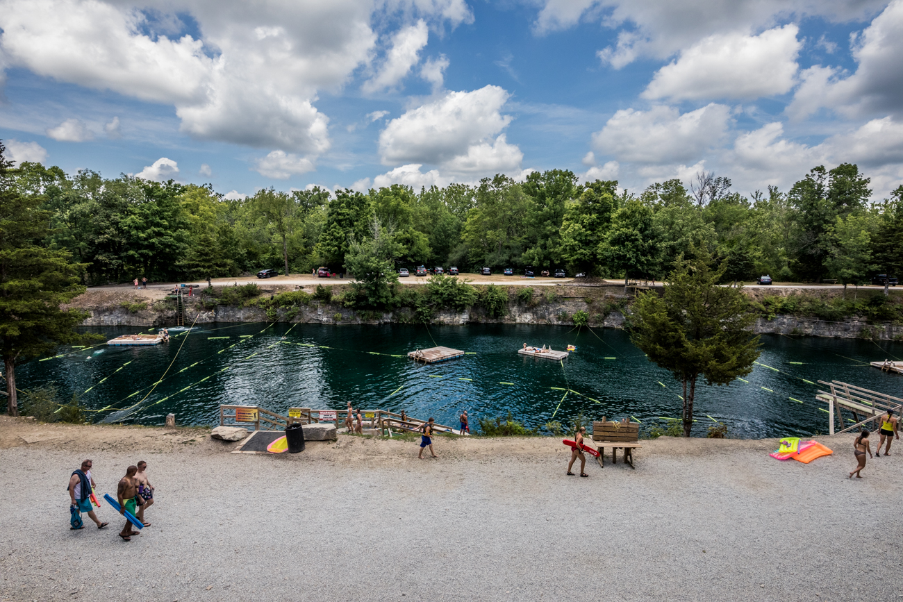 Park admission includes unlimited day access to the swimming lake, all jumps, ziplines, and rope swing. It costs $15/person on weekdays and $20/person on weekends and holidays. Children six to nine years old are $12, and kids five years and younger are free. Camping and other activities are available at additional costs. / Image: Catherine Viox // Published: 8.14.20