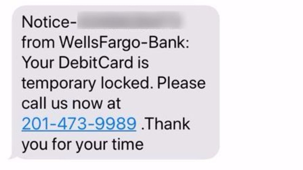 Scam Alert: Woman gets text message about bank account being