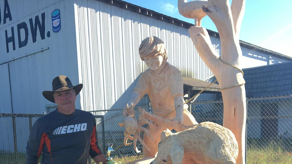 Chainsaw carving event wraps up with washington man taking