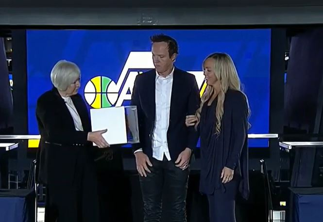 Gail Miller announced plans to sell the Utah Jazz to Ryan and Ashley Smith on Tuesday, Oct. 28, 2020. (Photo:{ } KUTV)