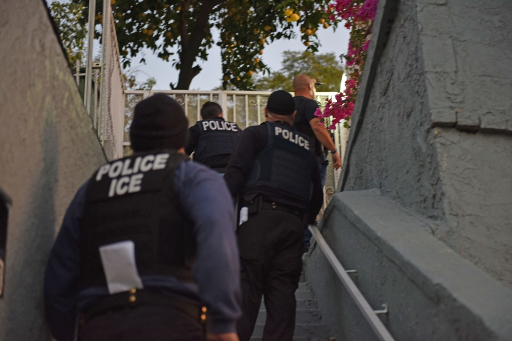 FILE -{ }U.S. Immigration and Customs Enforcement (ICE) deportation officers and special agents arrested 212 individuals for violating federal immigration laws{ } in the Los Angeles area during a five-day targeted operation in February 2018. (Photo: ICE.gov)