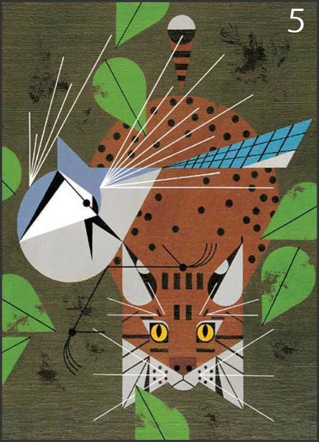 #5 - Charley Harper. We know (of) him. We love him. At least, we love his work. And that's why we did an entire story about the guy recently. You can find it in the Arts & Design section. / Image courtesy of the Charley Harper Studio
