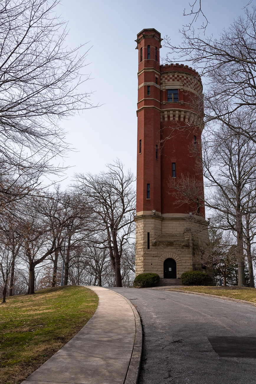 The Standpipe was added to the National Register of Historic Places in 1980. The tower retired as a standpipe in 1908 when newer stations were built in more strategic locations. / Image: Phil Armstrong, Cincinnati Refined // Published: 3.14.19