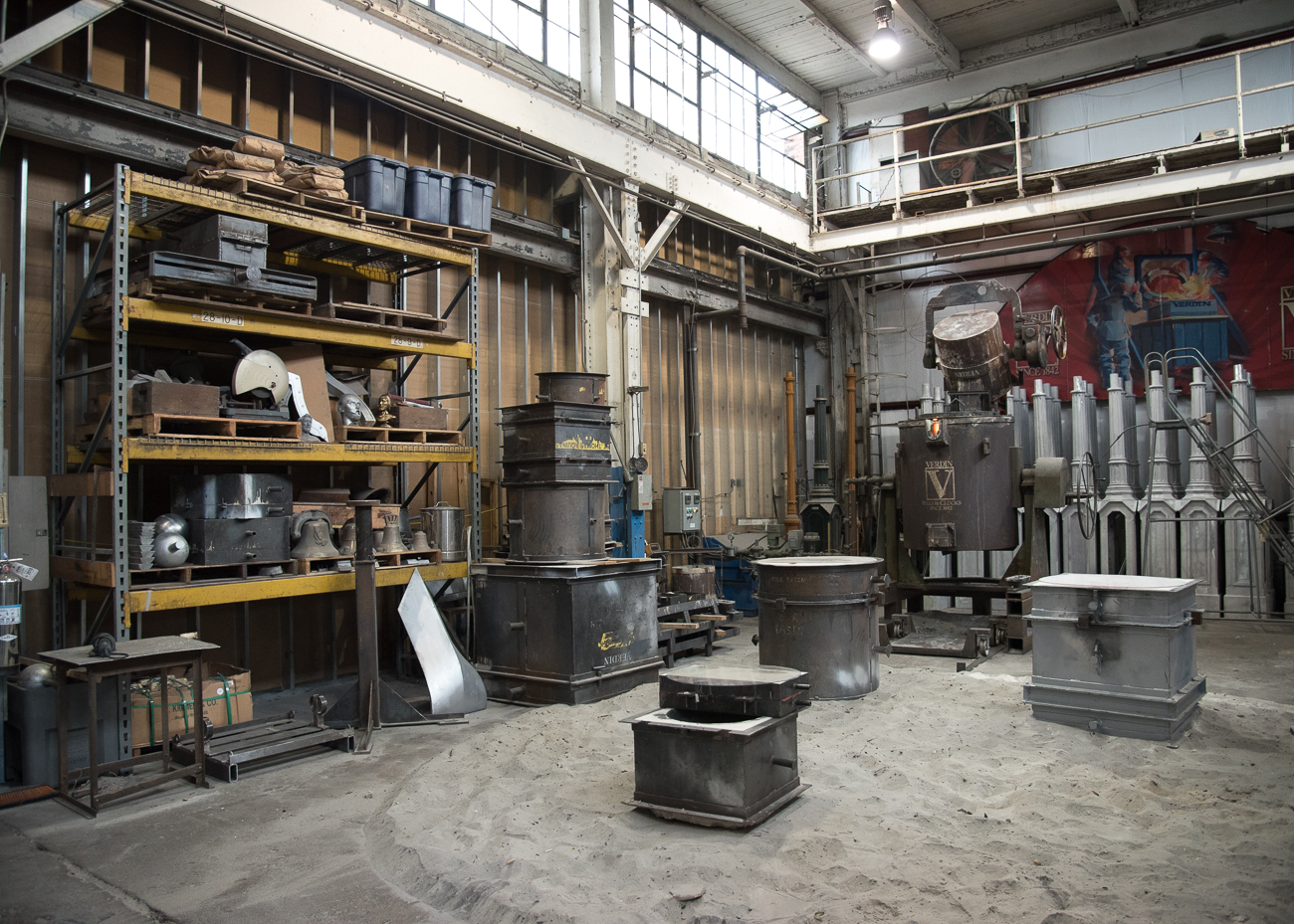 The foundry where Verdin bells are manufactured / Image: Phil Armstrong, Cincinnati Refined // Published: 10.19.18