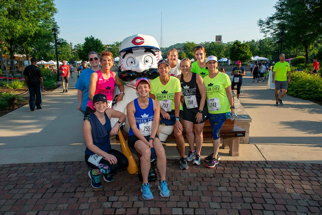 Members of the Queen City Running Club in Washington Park / Image: Joe Simon // Published: 5.19.19