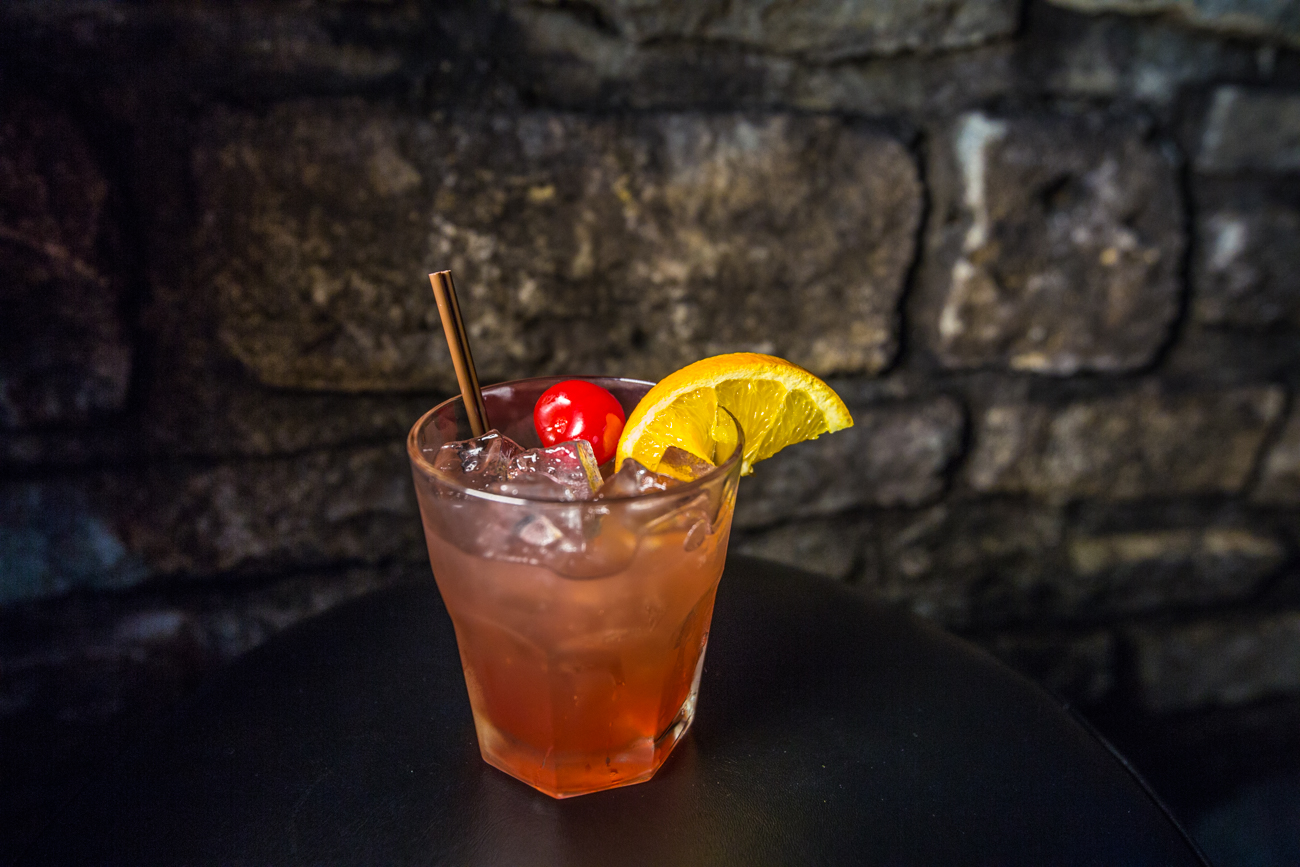 Hot Blooded: Bulleit Bourbon, lime, lemon, cherry juice, orange juice, and simple syrup / Image: Catherine Viox{ }// Published: 5.20.19