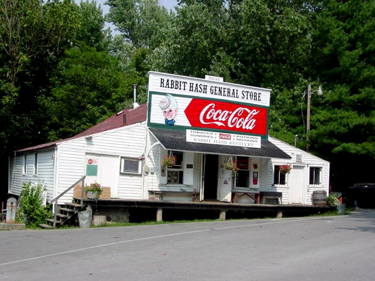 "The famous ""center of the universe"" Rabbit Hash General Store"