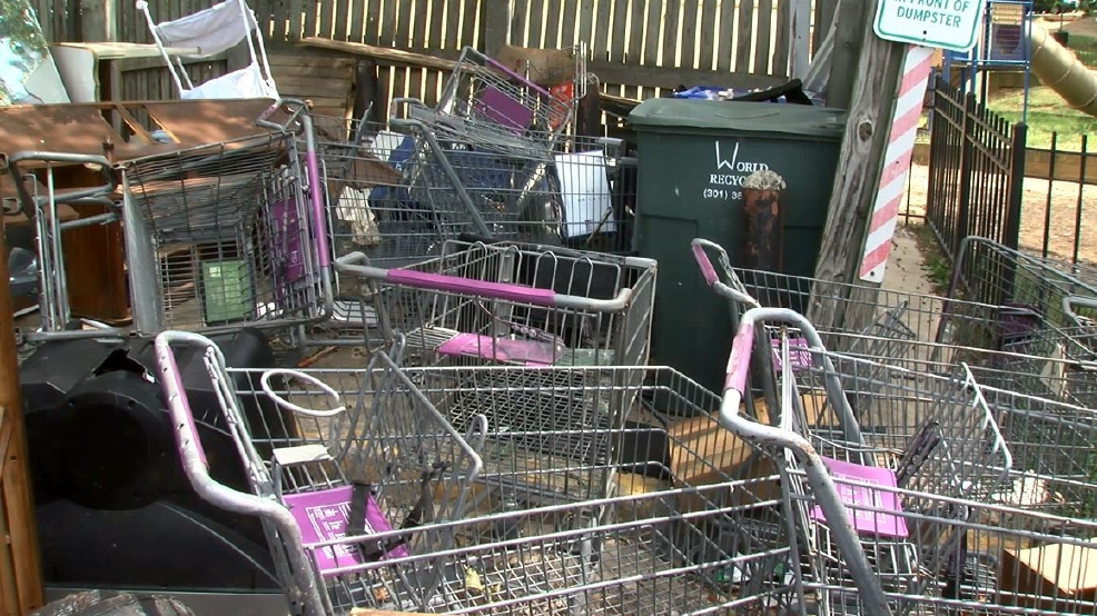Abandoned shopping carts pile up at D.C. apartment complex. (ABC7)