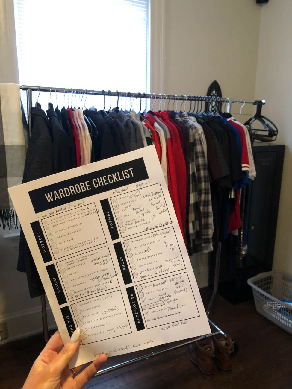 "One of A Style Breeze's most popular services is the Closet Cleanout. Alli organizes the items inside, color coordinates them, and makes note of what's missing from the wardrobe. She brings a closet checklist to go through that will ensure you have the essentials needed for everything from work outfits to clothing for special occasions. ""I think if you have a full wardrobe, no matter what the event that pops up, you should be able to have something you can wear to it,"" says Alli. She also helps you part with items that are damaged or simply haven't be worn in years. / Image courtesy of Alli Robben // Published: 2.19.20"